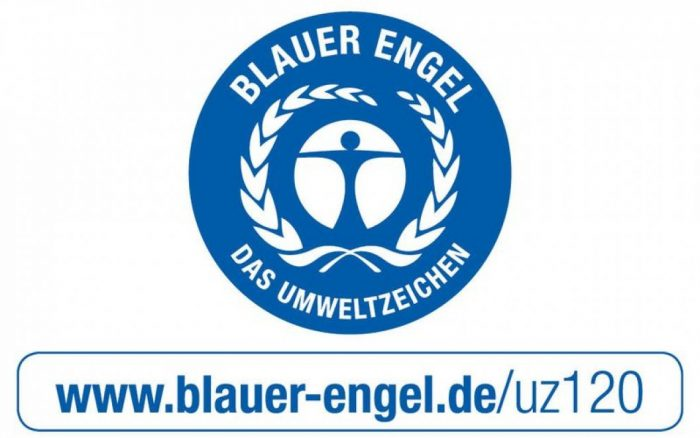 csm Blauer Engel logo 700x438 - Panele podłogowe MV805 Timeless Oak Natural | Cottage 8 mm AC5 | My Floor